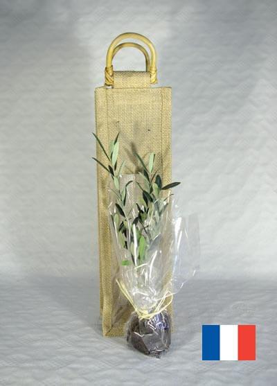 Plant d'arbre en sac toile de jute ecologique publicitaire ECO109