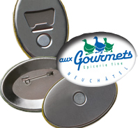 Badge bouton publicitaire BAD004