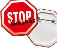 Badge bouton publicitaire BAD005