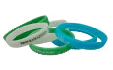 Bracelet Silicone fluo publicitaire BRA004