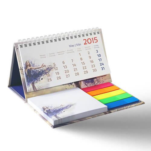 Mini calendrier publicitaire avec spirales CAL005