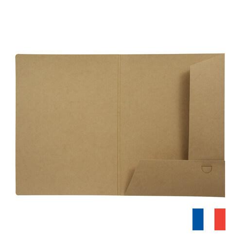 Chemise A5 carton recycle publicitaire CHE004