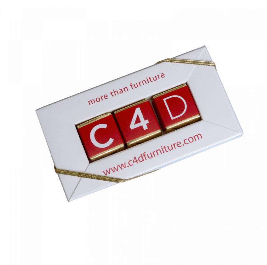 Cube Chocolat personnalise publicitaire CHO066