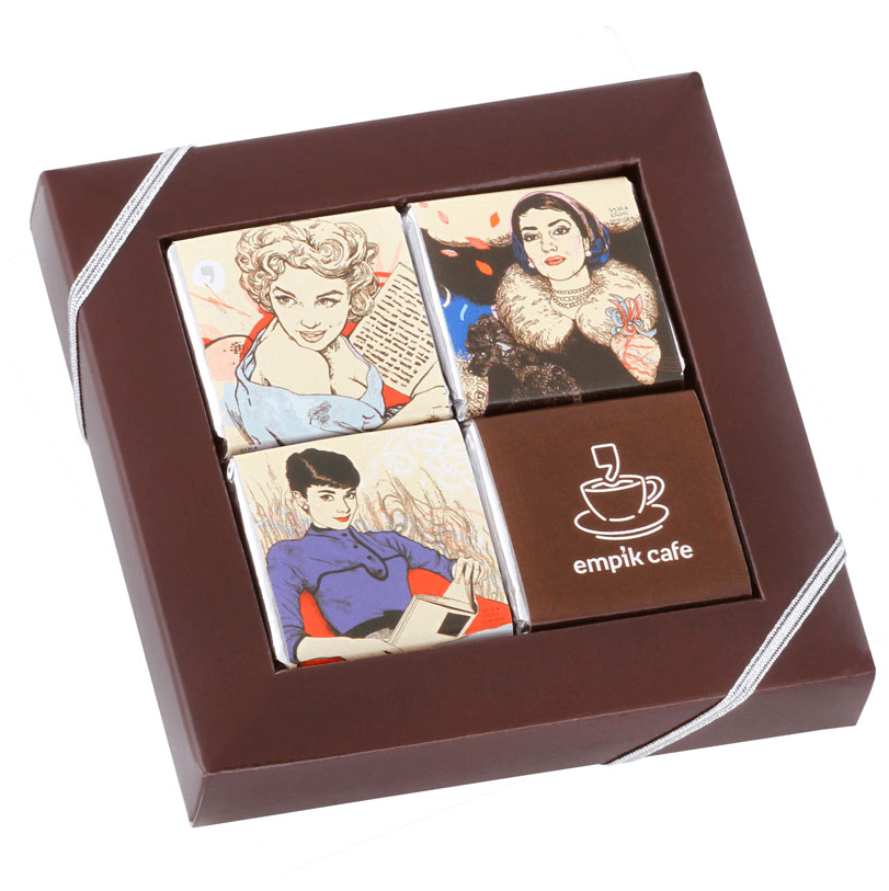 Carre Chocolat publicitaire personnalise CHO069