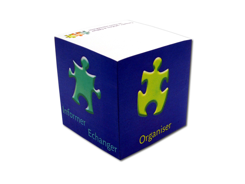 Bloc cube publicitaire 90x90x90 mm CUB006