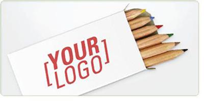 PACKY - Lot de 6 crayons publicitaire personnalise ECO009
