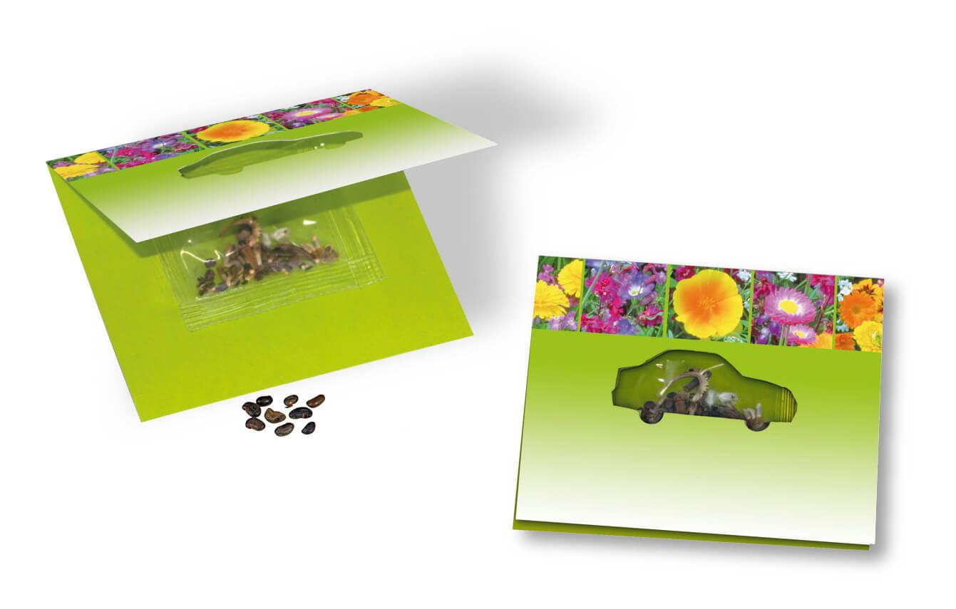 Carte ecologique publicitaire personnalisee avec graines ECO049