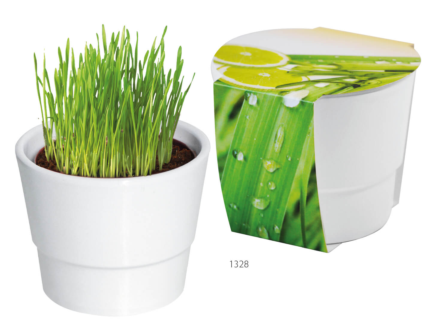 Pot de pelouse ecologique publicitaire ECO054