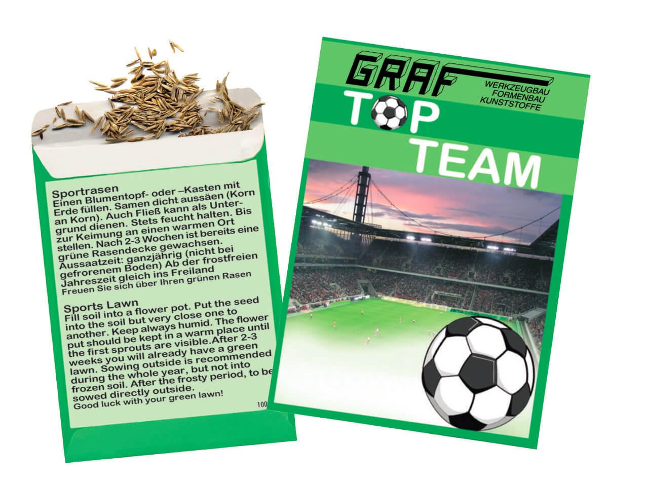 Sachet publicitaire ecologique de graines de pelouse ECO069