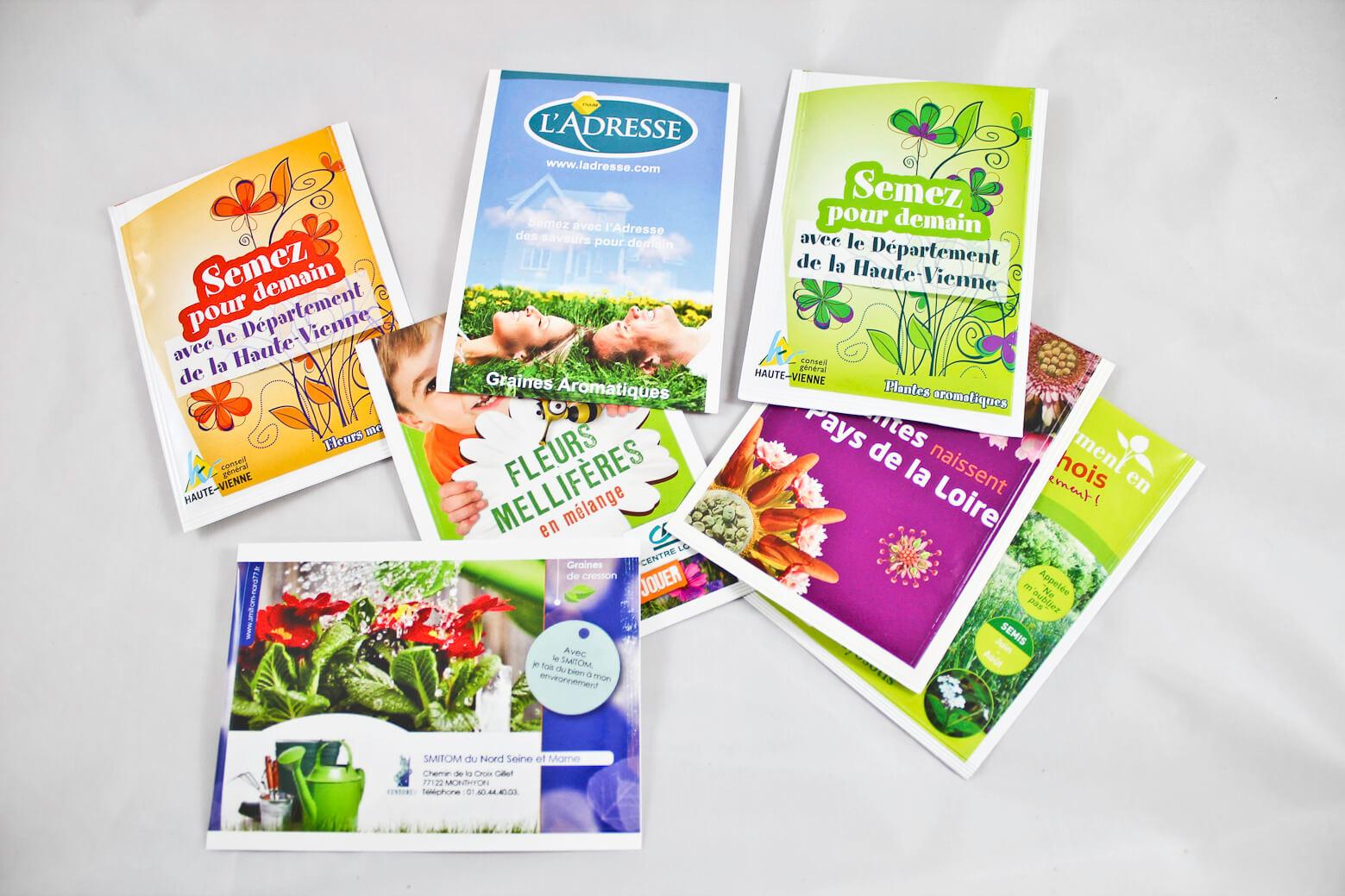 Sachet de Graines ecologique publicitaire taille moyenne ECO090