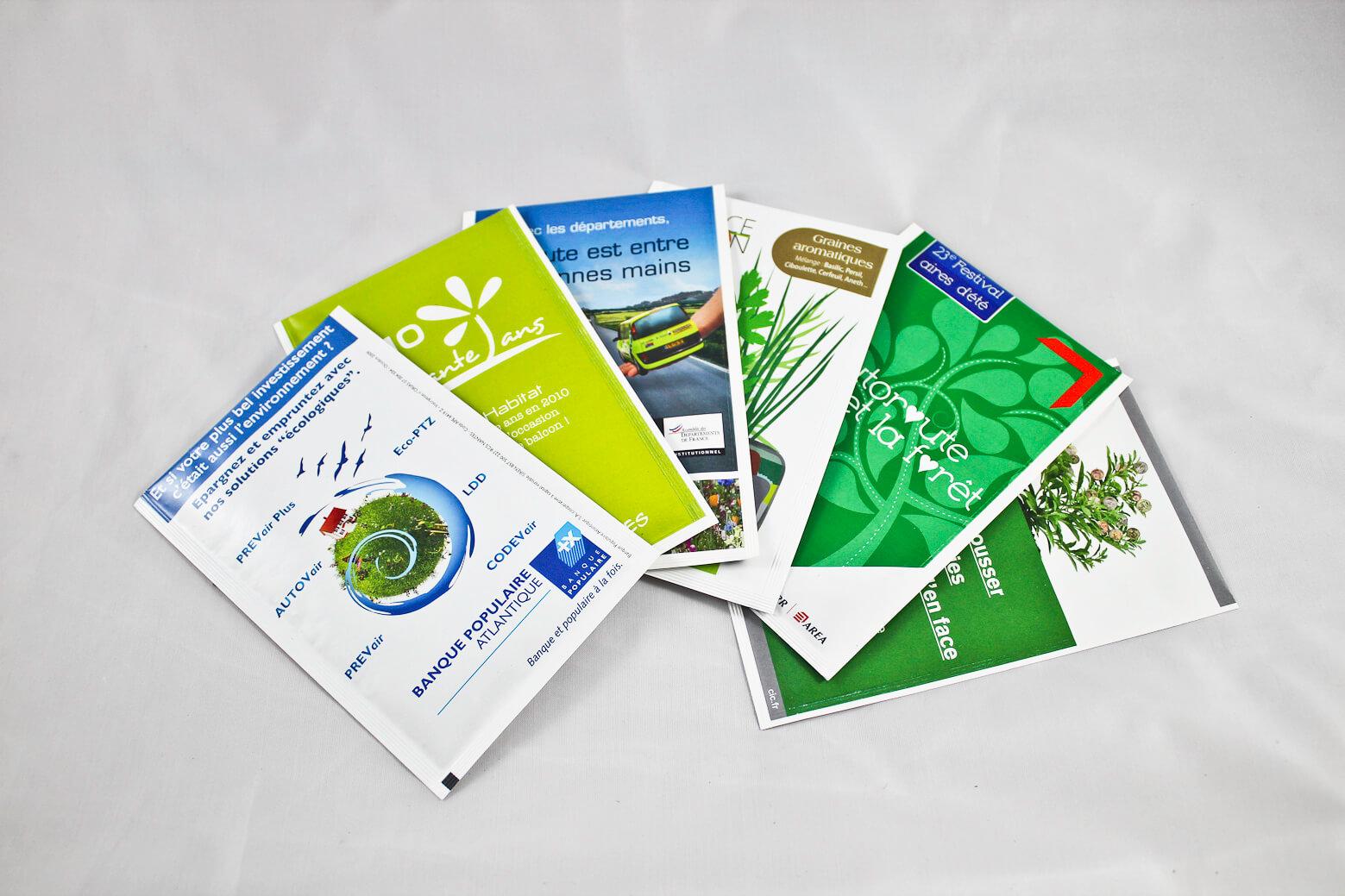 Grand Sachet de Graines ecologique publicitaire ECO091
