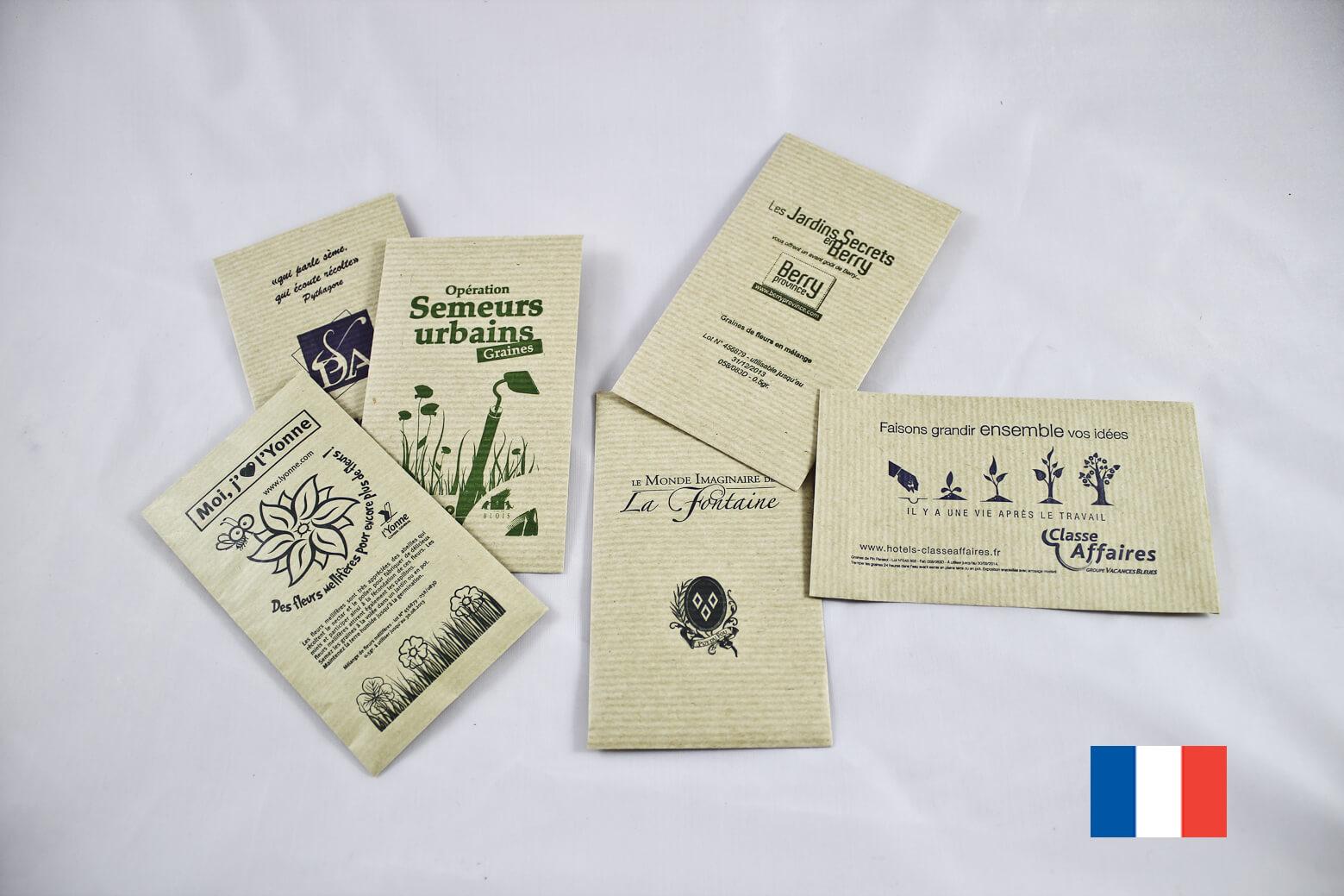 Sachet de graines kraft ecologique publicitaire ECO092