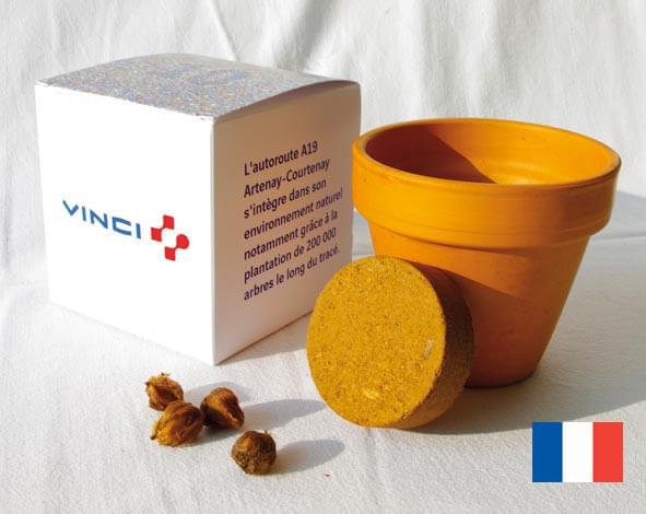 Le cube de plantation ecologique publicitaire ECO100