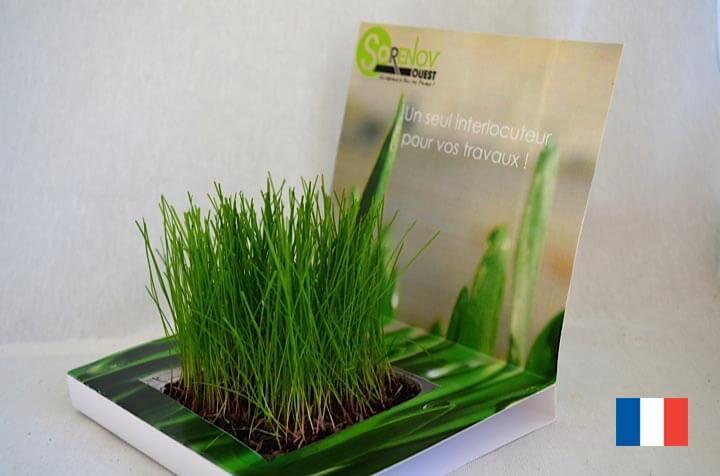 Carte Jardin ecologique publicitaire ECO102