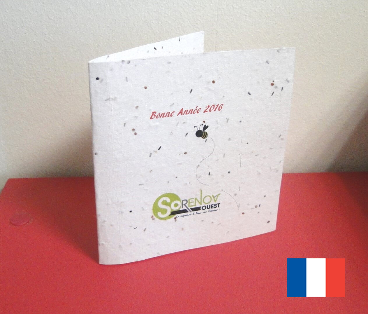 Carte d'invitation ecologique a planter ECO128