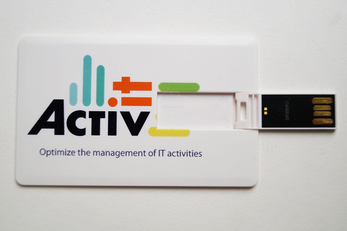 USB Carte Plastique publicitaire personnalisee