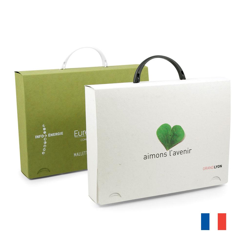 Valisette carton recycle publicitaire VAL023