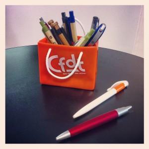 Pot a crayons publicitaire