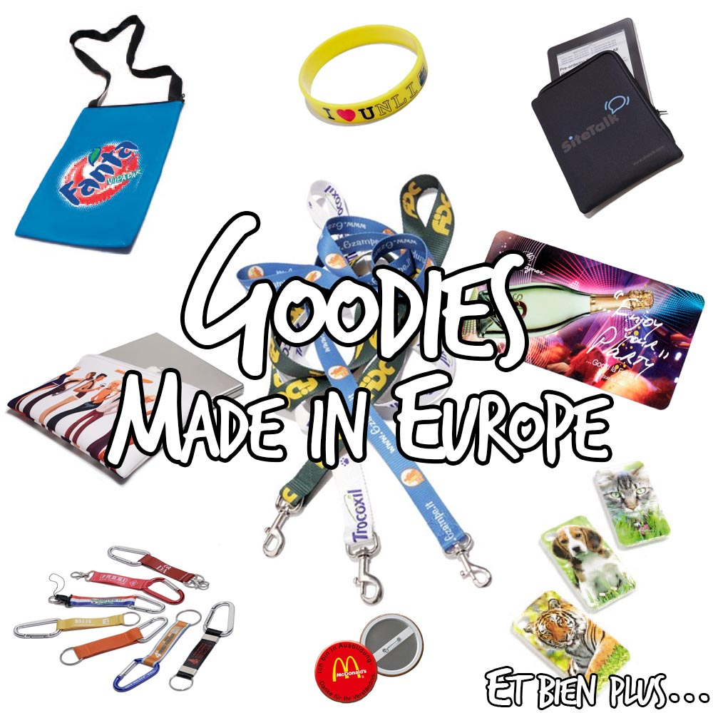 Goodies publicitaires Made in Europe