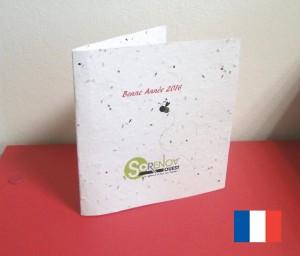 La carte d'invitation écologique à planter